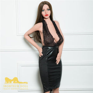 Irontech160cm big breasts brown long hair pure and slim sex doll-Jaray - lovedollshops.com