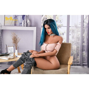 Irontech169cm Big Breasts High Curvy Blue Hair Domineering Anime Sex Doll Yael - lovedollshops.com