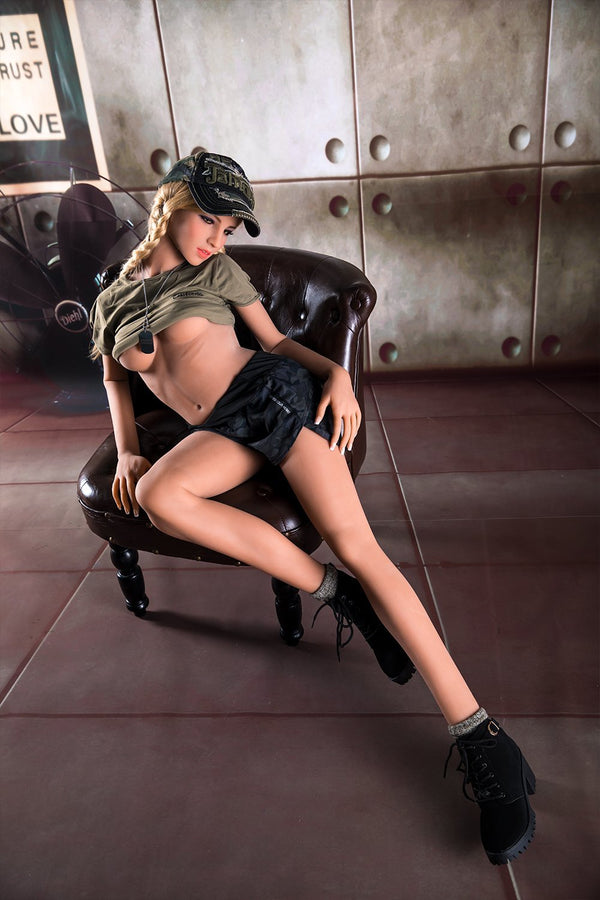 Jarliet 156cm B cup blonde small breast sexy sex doll Hannah - lovedollshops.com