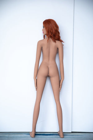 Jarliet 157cm B cup sporty slim orange hair slim sex doll-Lisa - lovedollshops.com