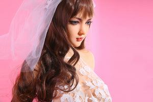 QITA 168cm F cup white gauze bride sex doll Gloria - lovedollshop