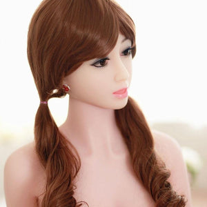 Real-life pure sex doll curly hair female love doll – 158 cm Jiexue - lovedollshops.com