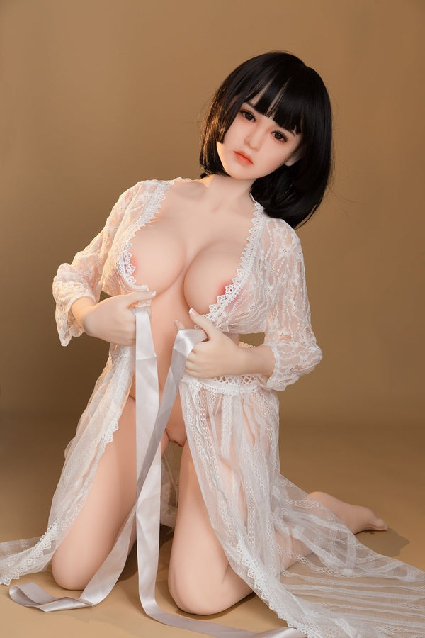 SanHui 156cm Asian huge breasts short hair muture sex doll Lixue - lovedollshops.com