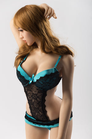 SanHui 156cm big breasts brown hair open mouch sex doll-Araner - lovedollshops.com