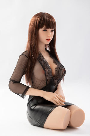 SanHui Asian 100cm big breasts sexy bruwn hair half-length sex doll-Sanyue - lovedollshops.com