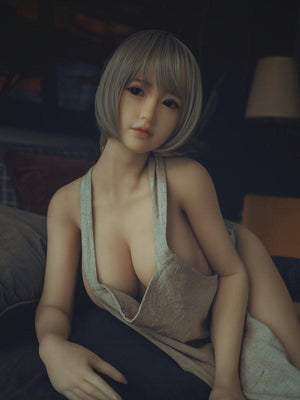 SanHui Asian 156cm big breasts short silver hair sex doll -Zixi - lovedollshops.com