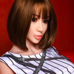 Simulation big breasts short hair refreshing and crisp sex doll 158CM TPE doll – Salery - lovedollshops.com
