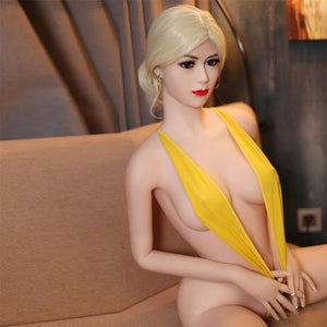 SY-165cm love doll light yellow hair lady style sex doll Merbena - lovedollshops.com