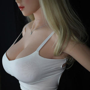 Tall sexy big boobs sex doll with pale yellow hair 165cm Silad - lovedollshops.com