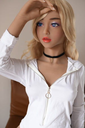 Yuqu 150cm European and American faces A cup small breasts blond hair sex doll-Ququly - lovedollshops.com