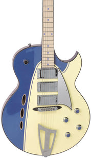 Eastwood Guitars Backlund Rockerbox Blue/Creme Featured