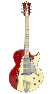 Eastwood Guitars Backlund Rockerbox Red/Creme Angled