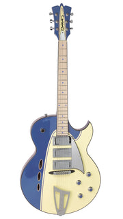 Eastwood Guitars Backlund Rockerbox Blue/Creme Angled