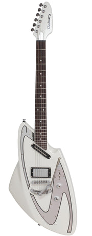 Eastwood Guitars Backlund Model 100 DLX Limited Edition Pearl White Full Front