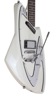 Eastwood Guitars Backlund Model 100 DLX Limited Edition Pearl White Player POV