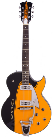 Eastwood Guitars Backlund Rockerbox II DLX Orange Full Front