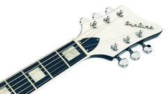 Eastwood Guitars Airline Map Baritone DLX Black Headstock