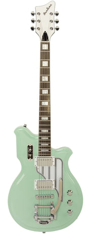 Eastwood Guitars Airline Map Baritone DLX Seafoam Green Full Front