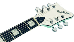 Eastwood Guitars Airline Map Baritone DLX Seafoam Green Headstock