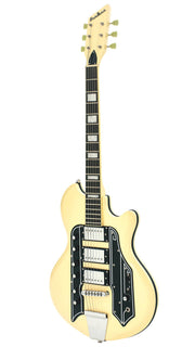 Eastwood Guitars Airline 59 Town & Country STD Vintage Cream Angled