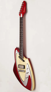 Eastwood Guitars Model 100 Red Angled
