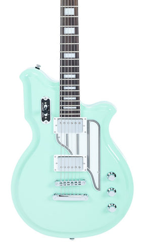 Eastwood Guitars Airline Map Baritone Seafoam Green Featured