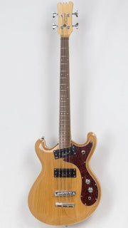 Eastwood Guitars Sidejack PRO JM Bass Natural Angled
