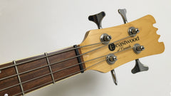 Eastwood Guitars Sidejack PRO JM Bass Natural Headstock