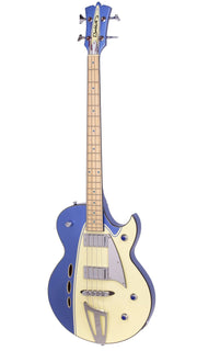 Eastwood Guitars Backlund Rockerbox Bass Blue/Creme Angled