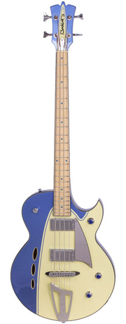 Eastwood Guitars Backlund Rockerbox Bass Blue/Creme Full Front