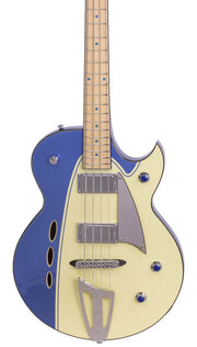 Eastwood Guitars Backlund Rockerbox Bass Blue/Creme Featured