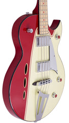 Eastwood Guitars Backlund Rockerbox Bass Red/Creme Player POV