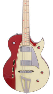 Eastwood Guitars Backlund Rockerbox Bass Red/Creme Featured