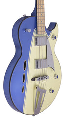 Eastwood Guitars Backlund Rockerbox Bass Blue/Creme Player POV