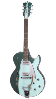 Eastwood Guitars Backlund Rockerbox II DLX Cadillac Green Angled