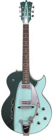 Eastwood Guitars Backlund Rockerbox II DLX Cadillac Green Full Front