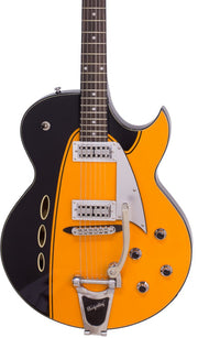 Eastwood Guitars Backlund Rockerbox II DLX Orange Featured
