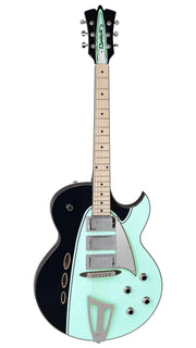 Eastwood Guitars Backlund Rockerbox Black/Mint Angled