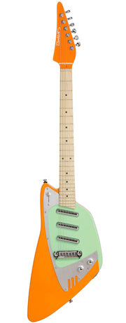 Eastwood Guitars Backlund Katalina Orange and Mint Full Front