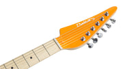 Eastwood Guitars Backlund Katalina Orange and Mint Headstock