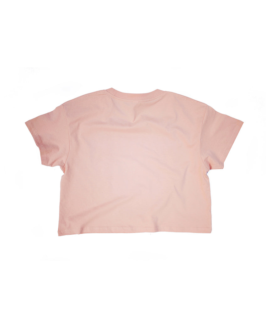 Support Your Girls Crop - Blush/White