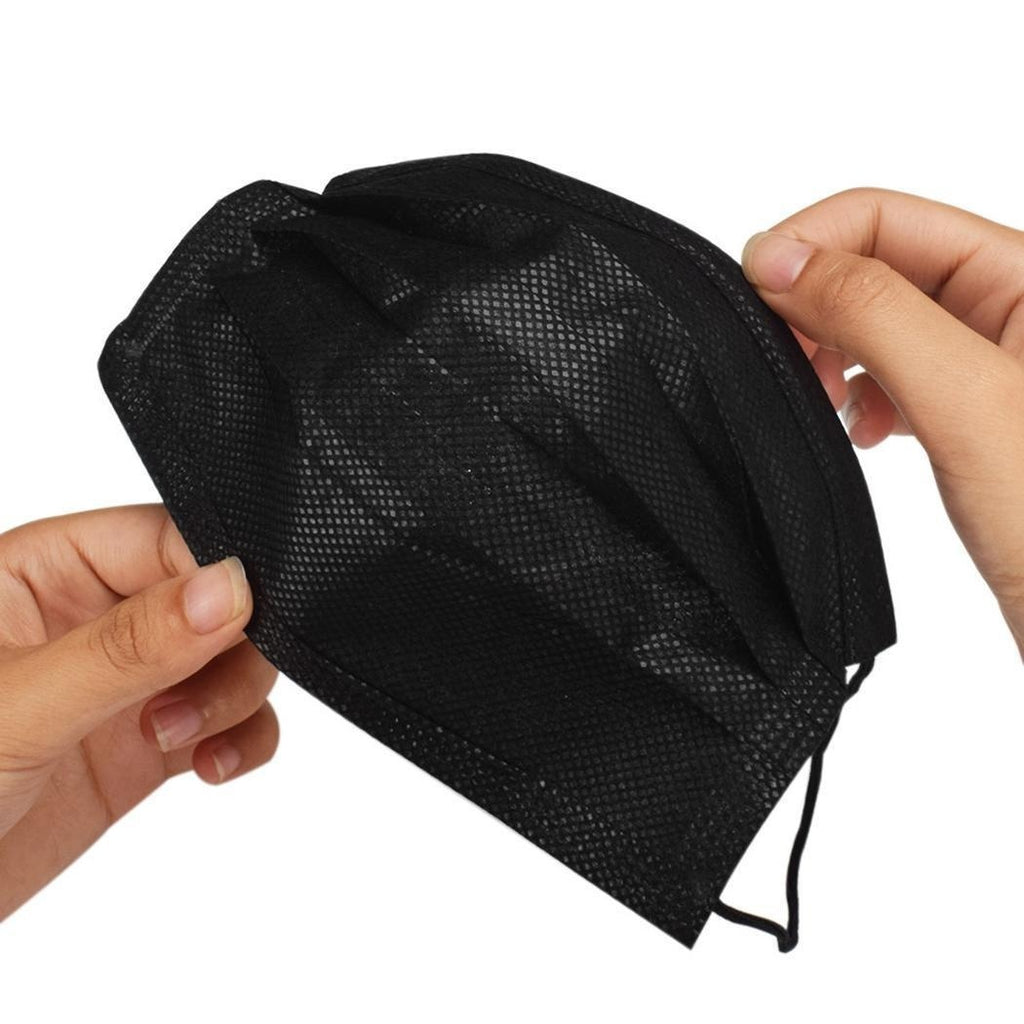 10Pcs Unisex Black Disposable Soft Breathability Earloop Face Masks
