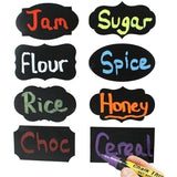 64PCS/8Sheets Chalkboard Blackboard Chalk Board Stickers Craft Kitchen Jar Labels Tags Chalk Blackboard Stickers Label Sticker Organizer Sticker Label Jars Bottle Sticker Kitchen Home Tag Sticker