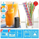 New Collapsible Reusable Drinking Straws Stainless Steel Food-Grade Folding Drinking Straws Keychain Portable Set with Case Holder & Cleaning Brush