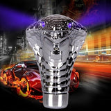 Perfect Universal Cobra Head LED Eyes Car Auto Vehicle Manual Gear Stick Shifter Shift Knob