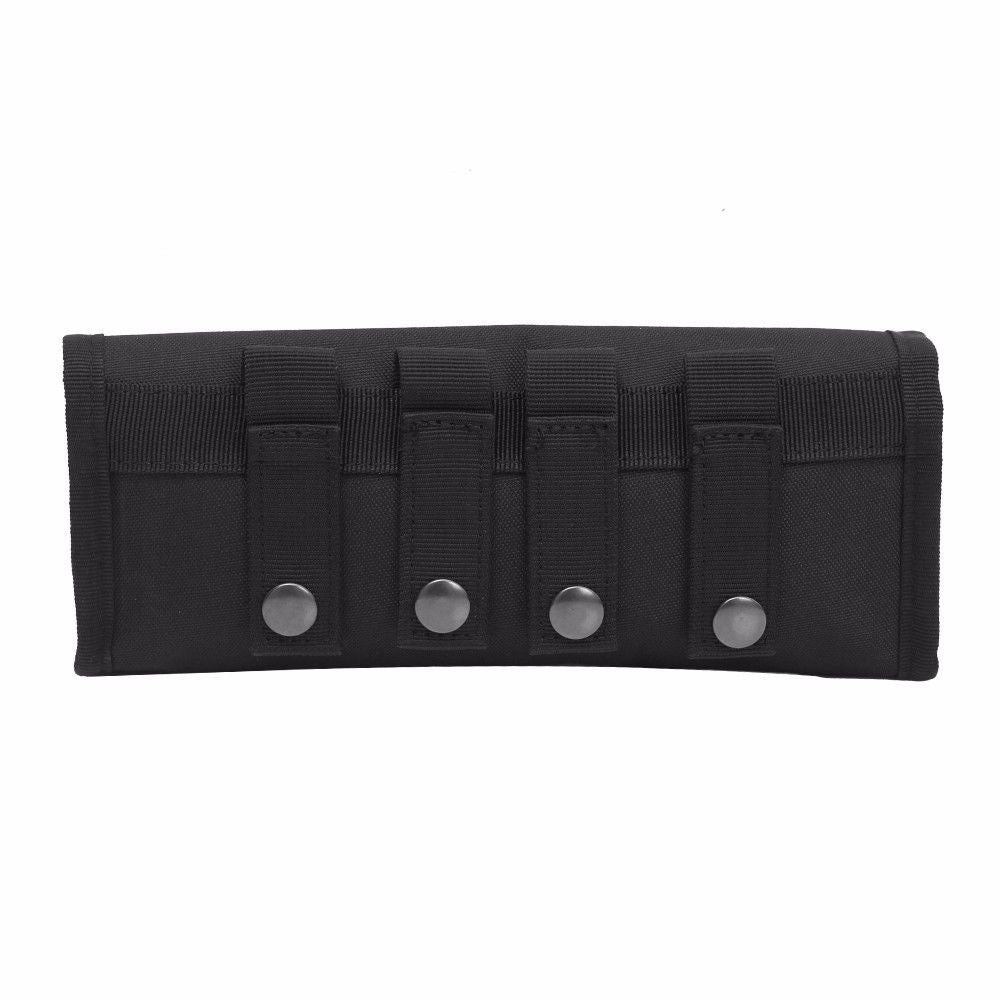 Tactical MOLLE Shotgun Shell Bag 18 Round 12/20GA Ammo Pouch Holder Carrier Case