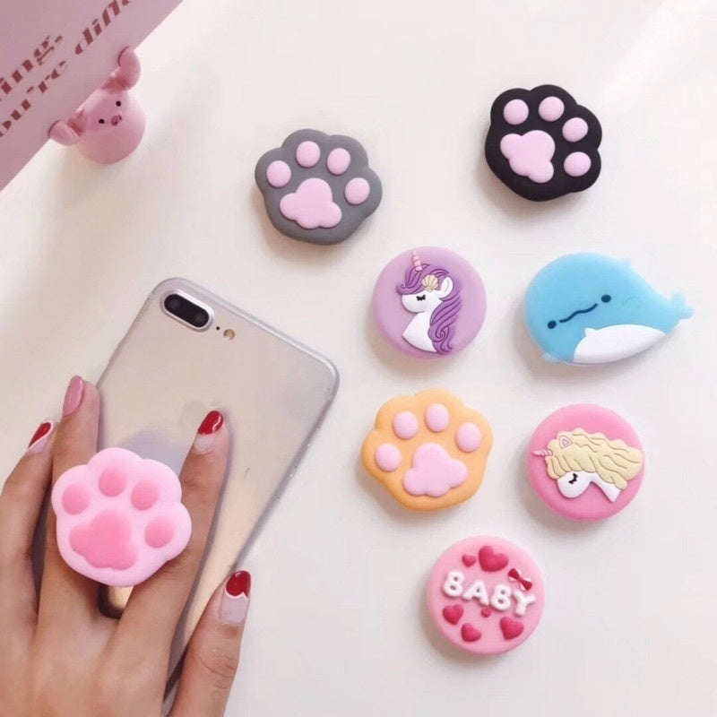 Cute Cartoon 3D Phone Ring Holder Phone Bracket Finger Grip Expanding Phone Holder Cellphone Stand Support Mobile Phone Stand