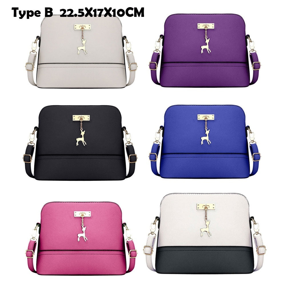 Women Fashion PU Leather Messenger Bag Shoulder Crossbody Bag