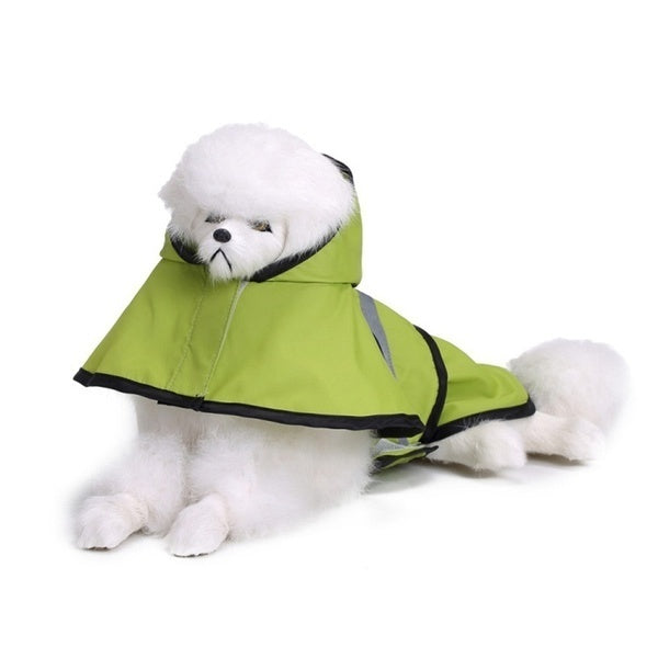 Dog Raincoat Reflective Rain Jacket Waterproof Pet Clothes Safety Rainwear For Pet Small Medium Dogs Puppy Doggy Green Red S-2XL