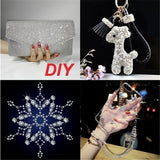 1440pcs DIY Super Shiny AB&White Glass Stones Clear Crystal DMC Hotfix Rhinestones For Crafts
